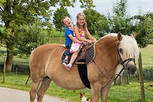 Ponyreiten am Bodensee, entspannen mit der Familie